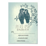 love owls sweet and cute wedding RSVP cards
