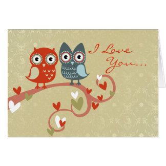 Love Owls Valentine's Card