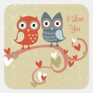 Love Owls Valentine's Stickers
