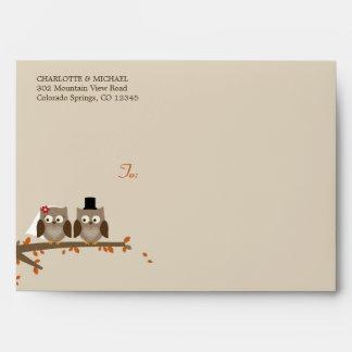 Love Owls Wedding - A7 Envelope