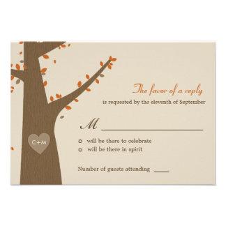 Love Owls Wedding RSVP Response Card Invitation