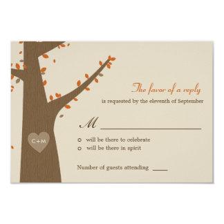 Love Owls Wedding RSVP / Response Card Invitation