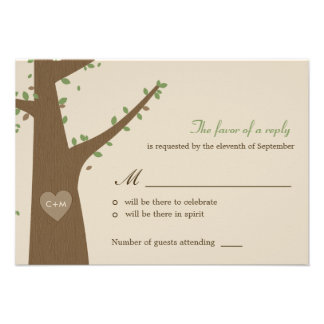 Love Owls Wedding RSVP Response Card Custom Announcements