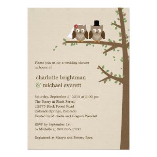 Love Owls Wedding Shower Rehearsal Dinner Invites Announcements
