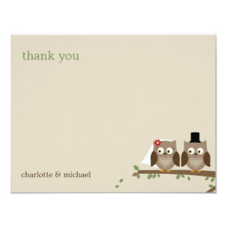 Love Owls Wedding Thank You Cards