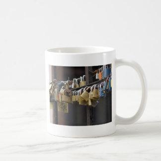 Love Padlocks, Prague Classic White Coffee Mug