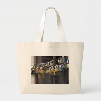 Love Padlocks, Prague Jumbo Tote Bag