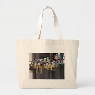 Love Padlocks, Prague Large Tote Bag