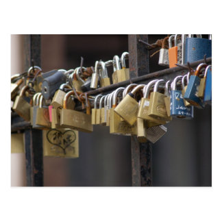 Love Padlocks, Prague Postcard