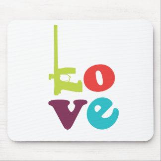 Love Paintball Logo Mousepad