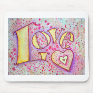 Love Painting Mouse Pad