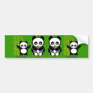Love Panda® Car Bumper Sticker