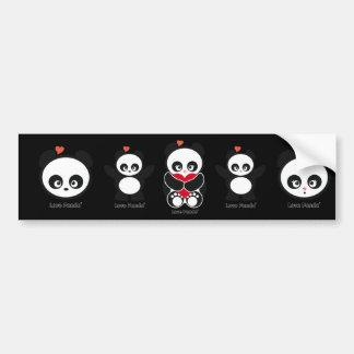 Love Panda® Bumper Sticker Car Bumper Sticker