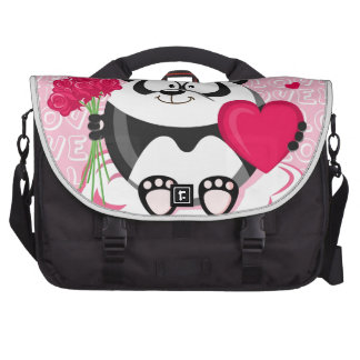 Love panda from the circle series commuter bag
