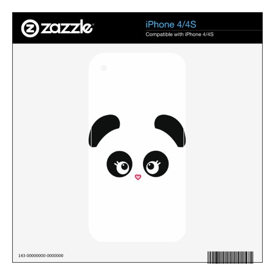 Love Panda® iPhone Skin Decal For The iPhone 4