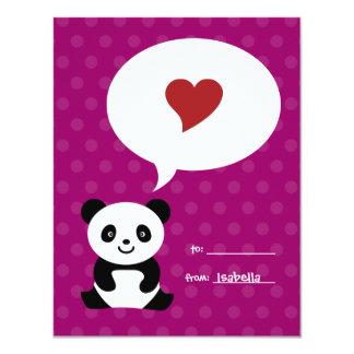 Love Panda Kids Valentine Card