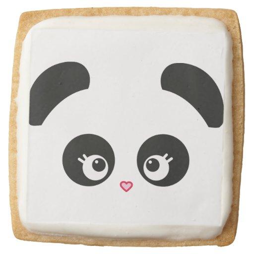 how to make panda shortbread cookies