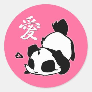 Love Panda Stickers