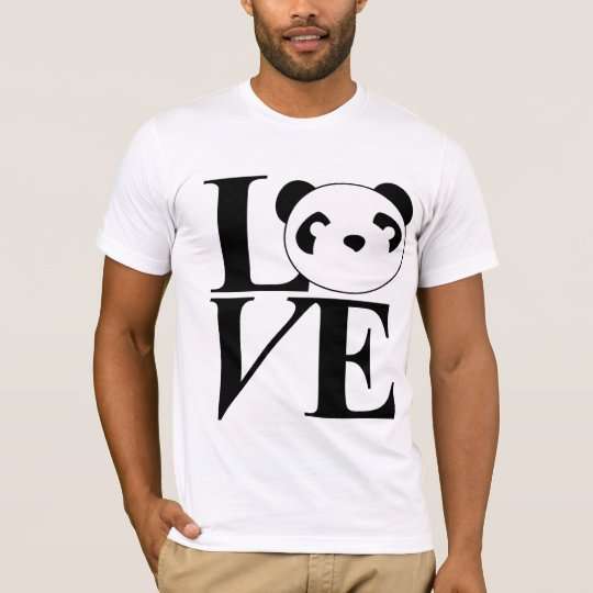 Love Pandas Tee in Black