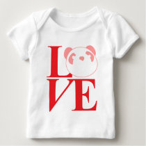 Love Pandas Tee in Red and Pink