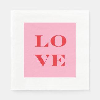 """Love"" Paper Napkins"