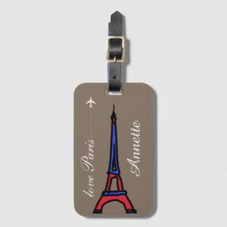 love Paris Bag Tag
