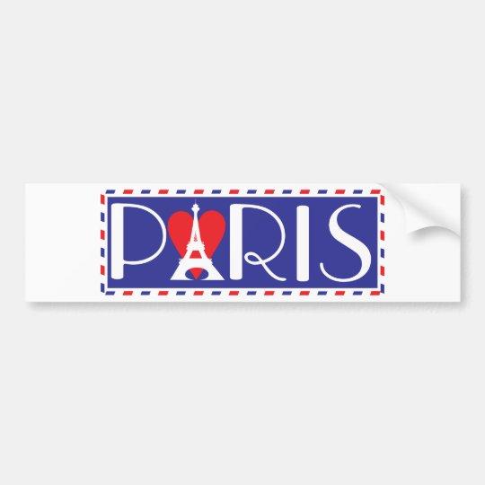 Love Paris Bumper Sticker