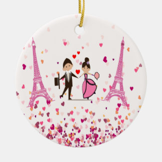 LOVE PARIS CERAMIC ORNAMENT
