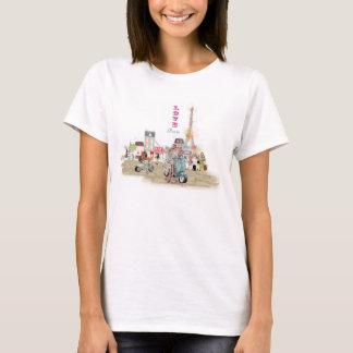 Love Paris collage sketch T-Shirt