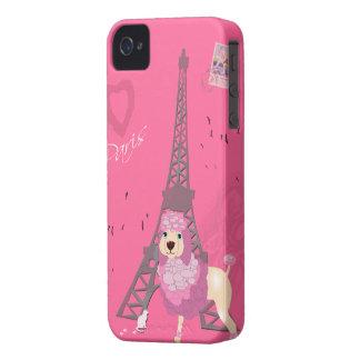 Love Paris Dog Case-Mate iPhone 4 Cases