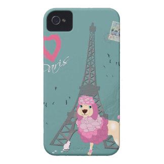 Love Paris Dog iPhone 4 Cover