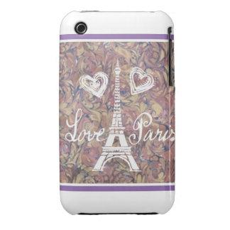 LOVE PARIS EIFFEL AND HEART  WATERCOLOR iPhone 3 Case-Mate CASES