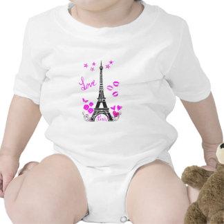 LOVE PARIS EIFFEL TOWER PRINT TEE SHIRTS