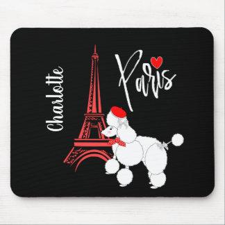 Love Paris French Poodle Super Cute Personalized Mouse Pad