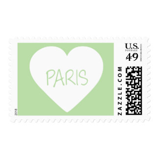 Love Paris heart Stamps