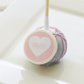 Love Paris heart Cake Pops