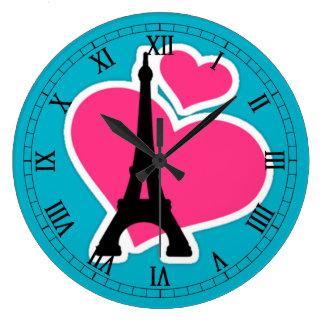 love Paris Large Clock