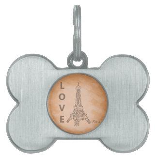 Love Paris Pet Tag