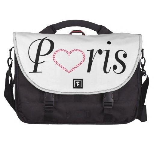 Love Paris Typography Laptop Bags