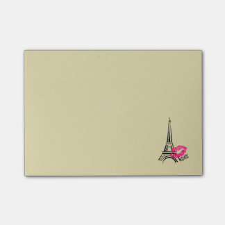 Love Paris with Eiffel Tower Illustration Post-it Notes