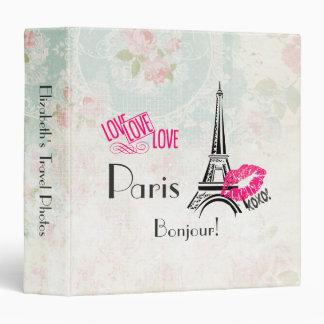 Love Paris with Eiffel Tower Travel Photos Binder
