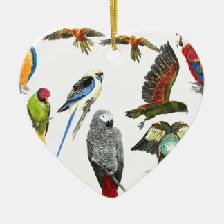 love parrots love these the 2nd in the series ceramic ornament