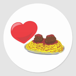Love pasta!  Customizable: Classic Round Sticker