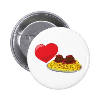 Love pasta!  Customizable: Pinback Button