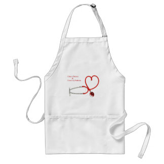 Love patients adult apron