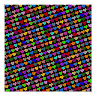 love pattern art color poster