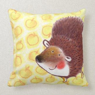 love pattern Hedgehog apple pie pillow