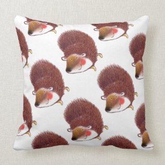 love pattern Hedgehog pillow