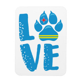 LOVE PAW (Blue letters) - Magnet