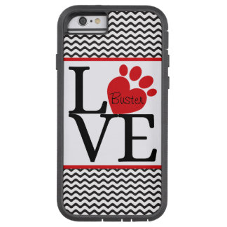 """""""LOVE"""" Paw Heart iPhone Case Tough Xtreme iPhone 6 Case"""